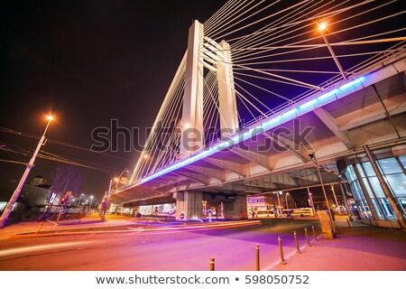 моста высокий подробность ночь Бухарест Сток-фото © photosebia
