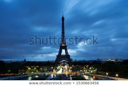 Eiffeltoren nacht water stad landschap licht Stockfoto © macsim