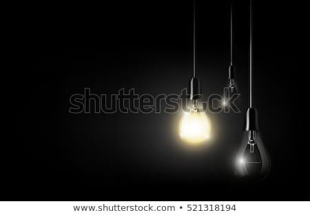 Résumé lumières blanche lampes noir star Photo stock © linfernum