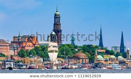 Hamburg Duitsland mooie entree hoofd- kerk Stockfoto © franky242