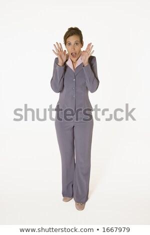 ビジネス女性 · 茶色の髪 · スーツ · 食品 - ストックフォト © Forgiss