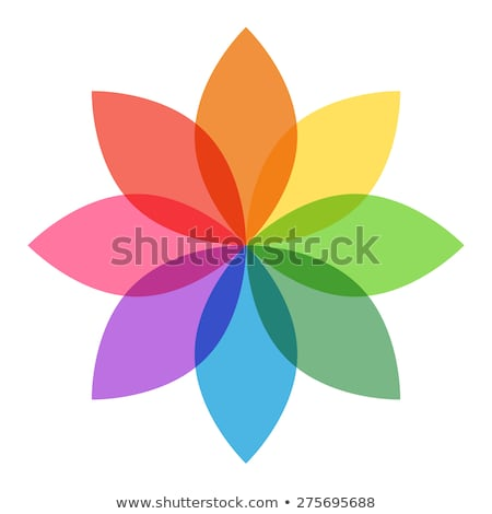 cmyk Flower icon Stock photo © Lightsource