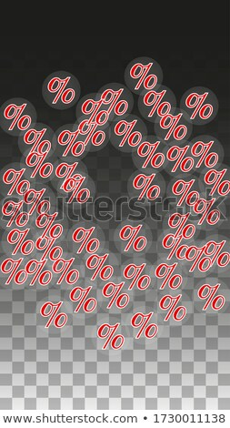 50 percentages discount 3d red banner with star stock photo © marinini