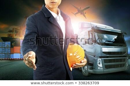 交通 募集 トラック 花 メガホン ストックフォト © Lightsource