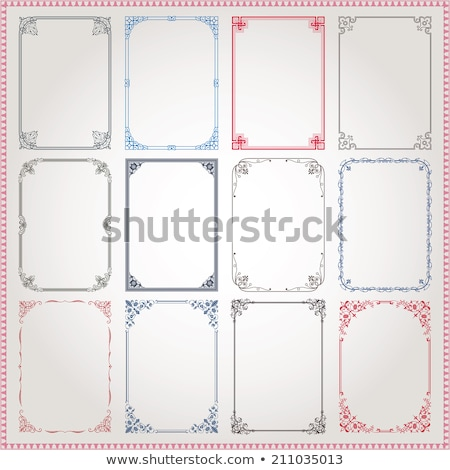 Three Decorative Frames Stock photo © 2tun
