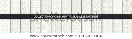 Naadloos textiel patroon warm oranje grafische Stockfoto © unweit