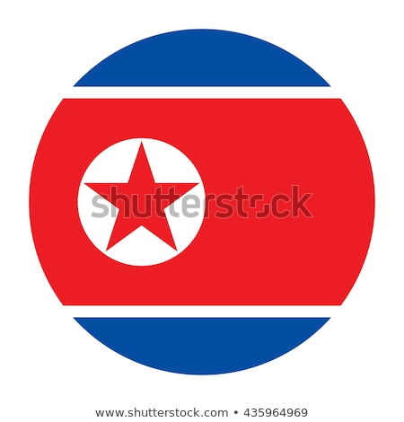 Glass button of the flag of North Korea Stock photo © maxmitzu