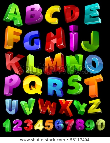 3d full alphabet with numerals  Stock photo © dacasdo