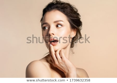 casual woman looks back Stock photo © feedough