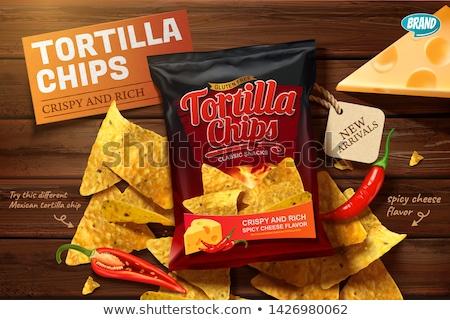 maíz · nachos · mesa · de · madera · comer · amarillo · chip - foto stock © jirkaejc