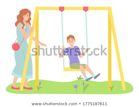 mother with child play in park Stock photo © Paha_L