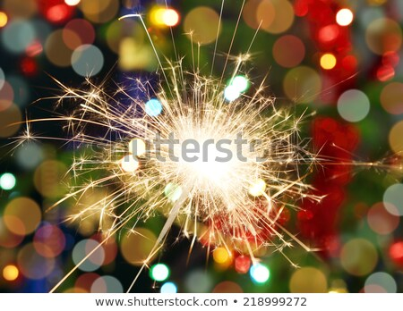 funny sparkler tree Stock photo © Paha_L