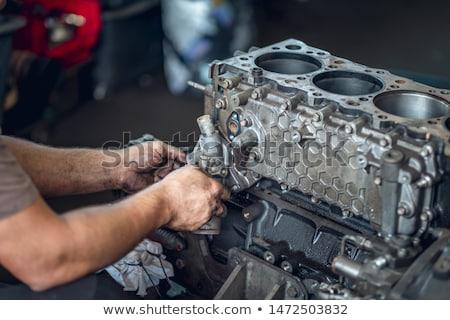 Diesel dettaglio nuovo blu marine motore diesel Foto d'archivio © Stocksnapper