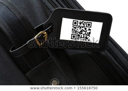 suitcase with qr code on label stock photo © zerbor