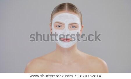 belo · topless · asiático · mulher · estância · termal · estômago - foto stock © lunamarina