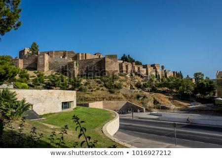 замок малага Испания мнение порта Средиземное море Сток-фото © nito