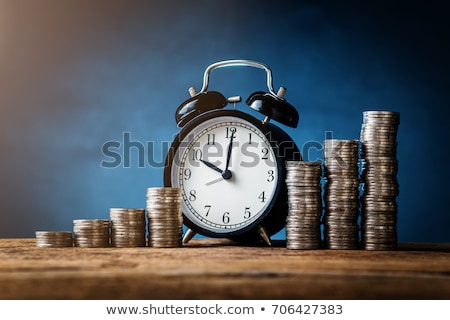 Tijd is geld munt gouden munt ontwerp antieke Stockfoto © albund