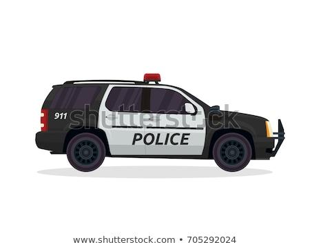 полиции внедорожник спорт утилита автомобиль фары Сток-фото © ArenaCreative