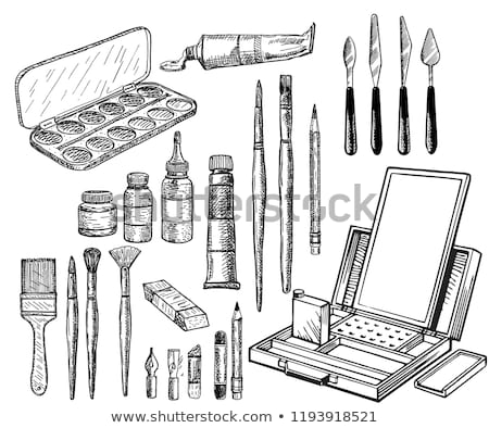 Drawing and painting tools icons Stock photo © carbouval