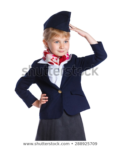 airhostess isolated on the white background stock photo © elnur