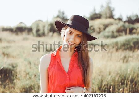 Genç şehvetli kadın kot moda fotoğraf Stok fotoğraf © stepstock