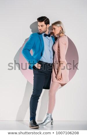劇的な · 愛 · カップル · 立って · 女性 · 幸せ - ストックフォト © feedough