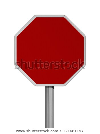 Danger Blank signs isolated over a white background Stock photo © alexmillos
