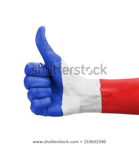 france national flag thumb up gesture for excellence and achieve Stock photo © vepar5