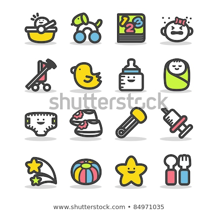 baby · iconen · ingesteld · ontwerp · pak - stockfoto © clipart_design