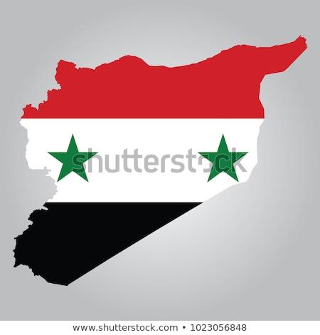 Preto Síria mapa administrativo asiático país Foto stock © Volina