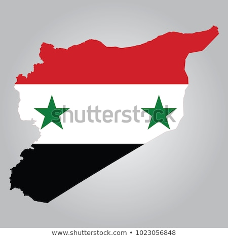 Zwarte Syrië kaart administratief asian land Stockfoto © Volina