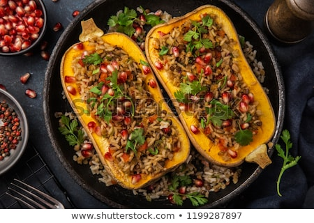 stuffed butternut squash stock photo © mkucova