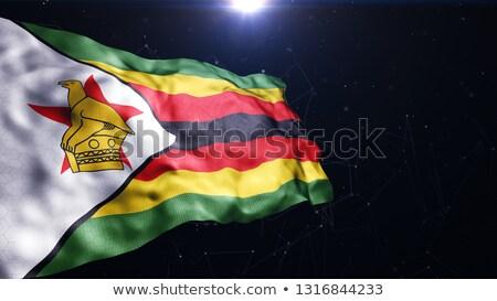 Zászló Zimbabwe futball csapat vidék Stock fotó © MikhailMishchenko