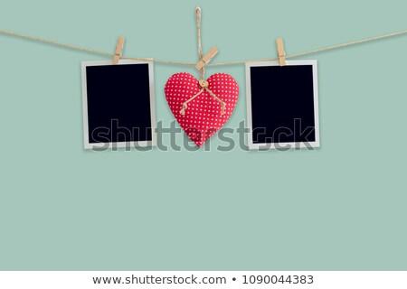 foto · vermelho · coração · cortiça - foto stock © karandaev
