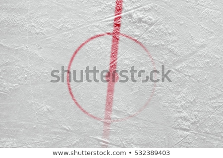 Blue line marking for hockey on ice Stock photo © bigjohn36