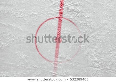 Blue line marking for hockey on ice stock photo © bigjohn36