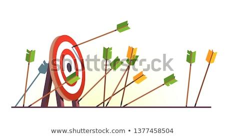 target · frecce · anello · bianco · arrow · concetto - foto d'archivio © Jumbo2010