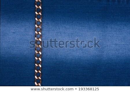Goud keten denim kan gebruikt textuur Stockfoto © alekleks