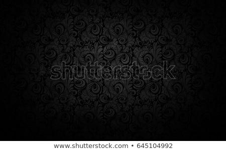 Siyah süs çiçek sanat bitki Stok fotoğraf © rioillustrator