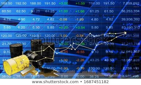 Foto stock: Econômico · previsão · ouro · 3D · palavras · escuro