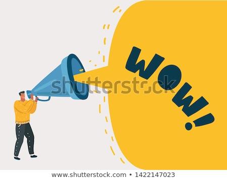 businessman shouting megaphone isolated Stock photo © leeavison
