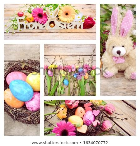 húsvét · kollázs · gyűjtemény · nyolc · élet · fotók - stock fotó © nejron