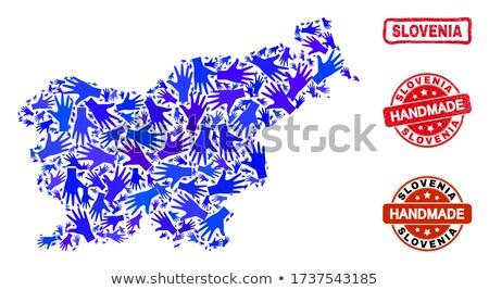 exportar · produto · Eslovenia · papel · caixa - foto stock © tashatuvango