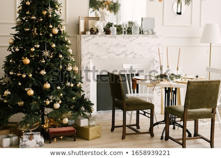 Christmas decoration in a house Stock photo © bmonteny