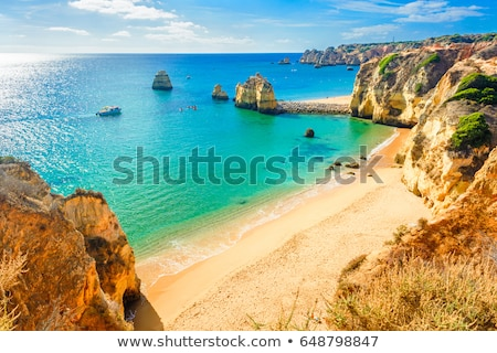 famous cliffs of ponta de piedade lagos algarve portugal stock photo © capturelight