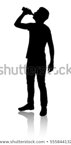 Drinking silhouettes stock photo © Slobelix