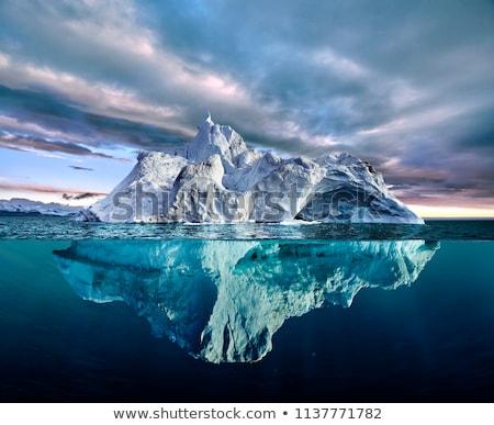 gyönyörű · jéghegy · körül · kék · ég · víz · tenger - stock fotó © arrxxx