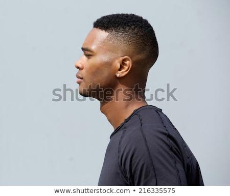 Widok z boku cool moda twarz okulary Zdjęcia stock © feedough