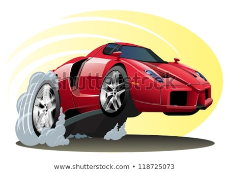 corrida · carro · de · corrida · pneu · chamas · bandeira - foto stock © mechanik