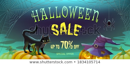 Foto Di Halloween.Happy Halloween Sale Shopping Background Vector
